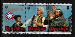 PENRHYN ISLAND  Scott # 80 VF USED SE TENNANT STRIP Of 3 (Stamp Scan # 482) - Penrhyn