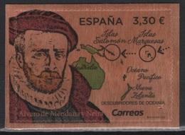 Spain (2018) - Set -  /  Maps - Cartes - UNUSUAL Wood Stamp - Géographie