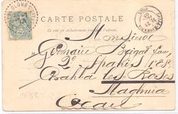 Algerie Carte Type Blanc Obl Colomb Extreme Sud Oranais - Storia Postale