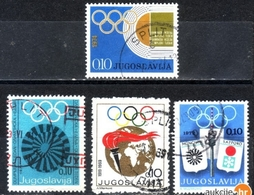 OLYMPICS-SMALL LOT-POSTMARK SPLIT-CROATIA -YUGOSLAVIA - 1969-1974 - Olympic Games