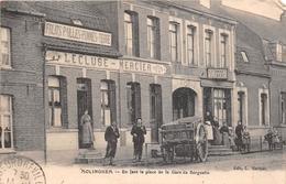 """ISBERGUES   -  MOLINGHEM   -  Enface La Place De La Gare De Berguette  -  Estaminet """" LECLUSE - MERCIER """" - Isbergues"""