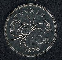 Tuvalu, 10 Cents 1976, KM 4, BU - Tuvalu
