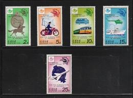 NORTH KOREA, 1978, Postal History 100th Years Of Progress 5v MNH (Mail Transport) - Corea Del Norte