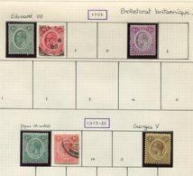 12263 NYASSALAND  N°1/2, 5, 12/3, 16 */ °  1908-13   B/TB - Timbres