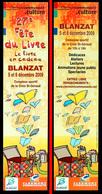 Marque-page Signet : 27ème Fête Du Livre - Blanzat - 2009 - Marque-Pages
