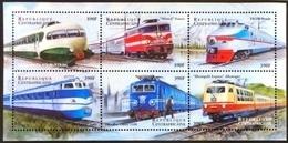 Central Africa 2000**Mi.2385-90 Trains ,MNH [8;42] - Treni