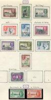 12265 NYASSALAND  N° 77/86, 88, 91/2 */ °  1945-46   B/TB - Timbres