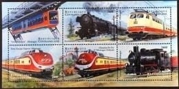 Central Africa 2000**Mi.2381-96 Trains ,MNH [8;42] - Treni