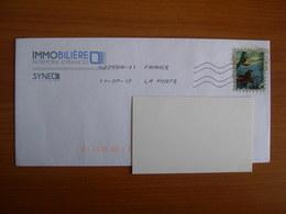 Enveloppe Avec Affranchissement Frauduleux Image Oiseaux - Autres