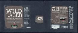 Etiquette Bière Beer Label édition Limitée Heineken Wild Lager Blue Ridge Mountains - Bière