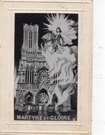 """JEANNE D'ARC """"MARTYRE ET GLOIRE"""" CARTE TISSEE SOIE - Brodées"""