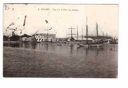 Tunisie Sousse Vue Sur Le Port La Douane Bateau Cachet 1924 + Timbre - Tunisia