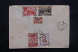 U.R.S.S. - Enveloppe En Recommandé De Léningrad Pour Bruxelles En 1949 , Affranchissement Plaisant Au Verso - L 27563 - Covers & Documents