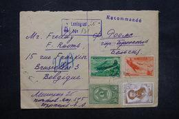 U.R.S.S. - Enveloppe En Recommandé De Léningrad Pour Bruxelles En 1949 , Affranchissement Plaisant - L 27565 - Covers & Documents