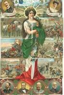 Cinquantesimo Anniversario Della Proclamazione Del Regno D' Italia - Magnifique Puzzle De 10 CPA (85 ASO) - History
