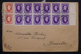 SLOVAQUIE - Enveloppe De Bratislava Pour Bruxelles En 1939 , Avec Contrôle Postal , Affranchissement Plaisant - L 27566 - Slovaquie