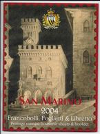 SAN MARINO - 2004 - ANNEE COMPLETE ** Dans Son EMBALLAGE - VALEUR FACIALE = 48 EUR - Saint-Marin
