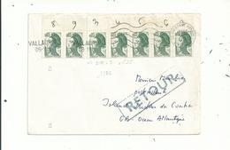 1 L à 0.35 Fr Avec 7 LIBERTE N° 2178.....RETOUR De Tristan Da Cunha........... à Voir - Marcophilie (Lettres)