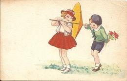 BAMBINI - INNAMORATI - FORMATO PICCOLO - VIAGGIATA 1942 - (rif. I18) - Illustrators & Photographers