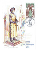 Carte Maxi Illustration Roland Irolla 51 REIMS FÊTES JOHANNIQUES 1999 Jeanne D'Arc Au Sacre - Reims