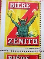 BIÈRE ZÉNITH Timbres Europe France Erinnophilie Bloc De 4 Vignettes Neufs **  MNH --- ☛ Publicité Peu Courante--- - Blocks & Sheetlets & Booklets