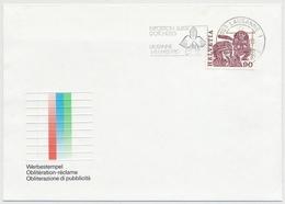602 Auf Illustrier Brief Mit Flaggenstempel LAUSANNE 1 - Exposition Suisse D' Orchidées Lausanne - Marcophilie