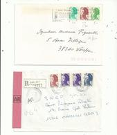 4 L ...(dont  3lr)...affranchies Avec Timbres  LIBERTE , 3 Couleurs Utilisées,  TARIFS  Différents.........à Voir - 1982-90 Liberté De Gandon