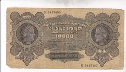 POLOGNE / 10000 MAREK / 1922 / TBE - Poland