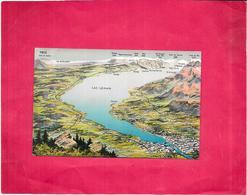 SUISSE - Carte Franco-Suisse Et Le Lac Léman - BES3/SAL1 - - GE Genève