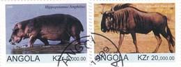 Angola YV ? O 1999 Hippopotame Gnou - Animalez De Caza