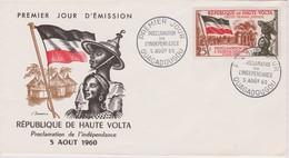 FDC 1er Jour - Indépendance - 05/08/1960 - OUAGADOUGOU - Haute Volta - Y&T 92 - Upper Volta (1958-1984)