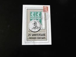 CACHET COMMEMORATIF  -  25 IEME ANNIVERSAIRE DU PREMIER COIN DATE   -  1947  -  AVEC VIGNETTE - Poststempel (Briefe)