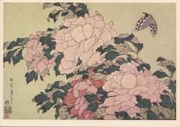 Katsushika Hokusai 1760 1849 Aus Der Folge Grobe Blumen Pfingstrosen Pivoines Copyright 1957 Hirmer Verlag München - Japon