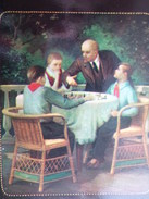 "Rare Postcard Set ""Lenin Image In Art Works Of Soviet Masters"" - JEU - ECHECS - CHESS . OLD USSR PC 1969 - Ajedrez"