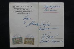HONGRIE - Enveloppe Commerciale ( Pli ) De Budapest Pour Vienne En 1918 Par Avion , Affranchissement Plaisant - L 27574 - Lettere
