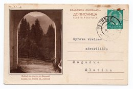 1938 BOHINJ LAKE, PORTA SV. JANEZA, SLOVENIA, YUGOSLAVIA, ILLUSTRATED POSTCARD, USED - Slovenia