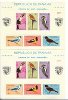 PANAMA 1965 BIRDS FROM PANAMA 2 SOUVENIR SHEETS PERF & IMP SCOTT C338A BL42 A/B P - Panamá