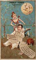CHROMO CHOCOLAT FRANCOIS BORDEAUX J'ECRIS UN POEME OU L'ON TROUVERA UN PLAISIR EXTREME... - Chocolate