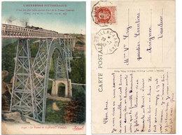 Le Viaduc De GARABIT - Train - Cachet : Aurillac A Arvant (112603) - Unclassified