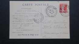 Carte Commerciale Illustrée Sté Les Fils De A. Piat & Cie Paris 1913 Semeuse Perforé AP (153) Ancoper - France