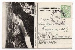10 DINARA, YUGOSLAVIA, SERBIA, DJERDAP-VELIKI KAZAN, ILLUSTRATED POSTCARD, USED - Serbia