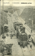 51  L'Argonne Guerre 1914-1918  La Neuville Au Pont Locomotive Gros Plan Très Rare - France