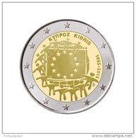 Chipre 2 Euro Cc  30ª Bandeira Europa  2015  UNC - Cyprus
