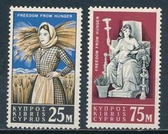°°° CIPRO CYPRUS - Y&T N°210//11 - 1963 MNH °°° - Cipro (Repubblica)