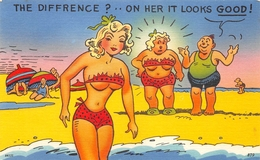 """HUMOUR // PIN-UPS // """" THE DIFFRENCE ?... ON HER IT LOOKS GOOD ! """" - Pin-Ups"""