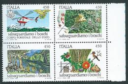 Italia, Italy, Italien 1984; Salvaguardia Dei Boschi, Protection Of Forests; Serie Completa. New. - Protezione Dell'Ambiente & Clima