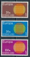°°° CIPRO CYPRUS - Y&T N°324/26 - 1970 MNH °°° - Cipro (Repubblica)