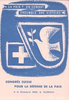 Zürich, Congrès Suisse Pour La Paix 1952 (462) 10x15 - ZH Zurich
