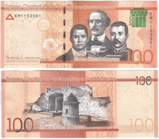 Dominican Rep - 100 Pesos Dominicanos 2017 ( 2018 ) UNC Lemberg-Zp - Dominicana