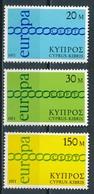 °°° CIPRO CYPRUS - Y&T N°351/53 - 1971 MNH °°° - Cipro (Repubblica)